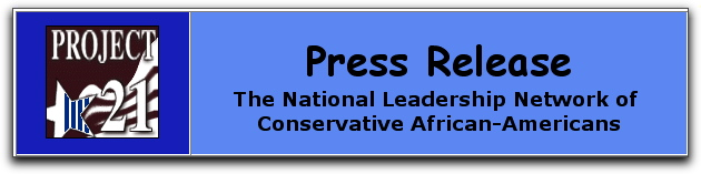Black conservative  press releases