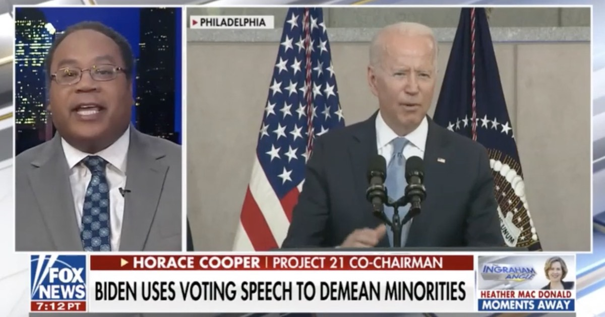 """""""No Truth Whatsoever"""" to Biden's Voter Suppression Claims"""