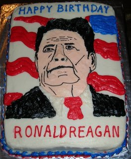 Ronald Reagan birthday cake