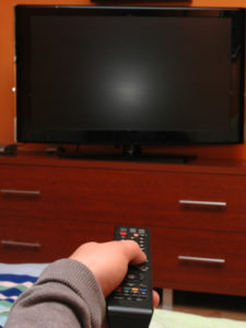 Turn on TV with remote control