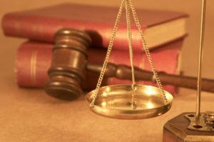 legal concept under yellow light, shallow dof