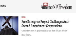 NRA Highlights Free Enterprise Project's Investor Advocacy