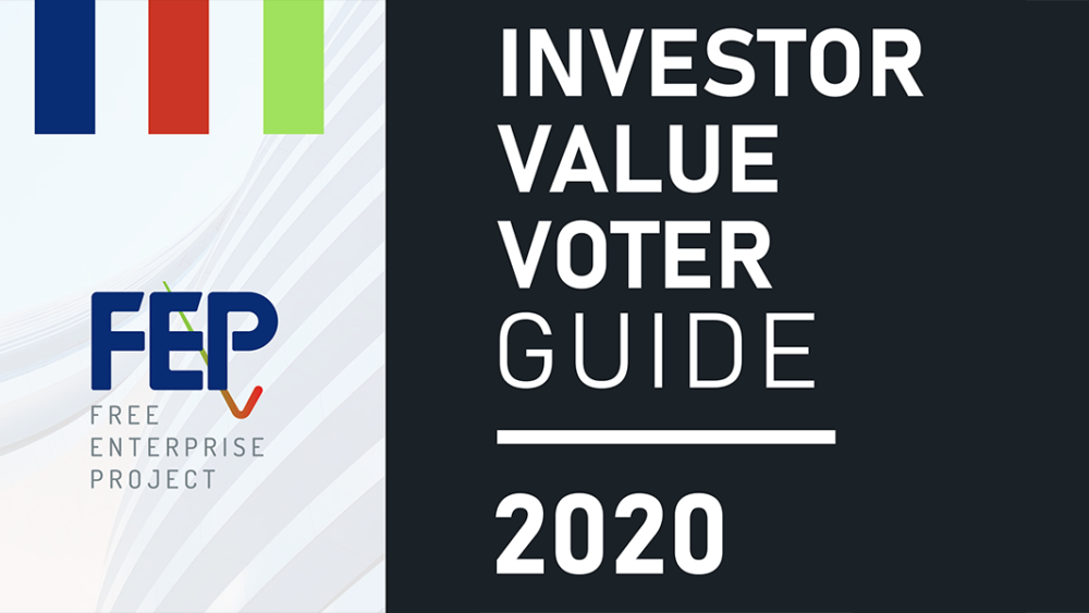 Investor Value Voter Guide 2020