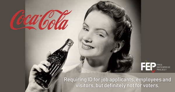 Coca-Cola requires ID for business, opposes it for voting