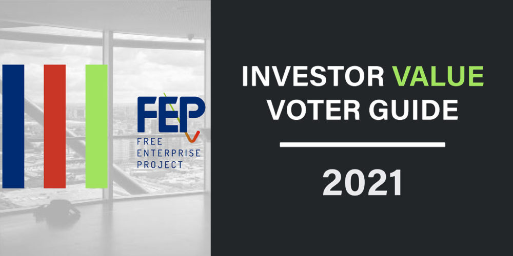 Investor Value Voter Guide 2021